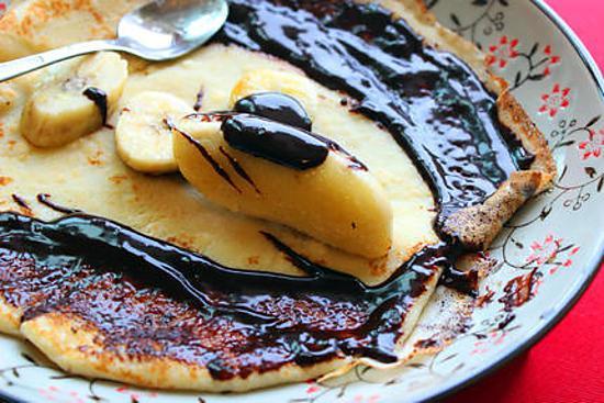 recipe Banana Chocolate Crepe