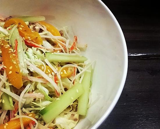 recipe Kani Salad with Sesame Dressing
