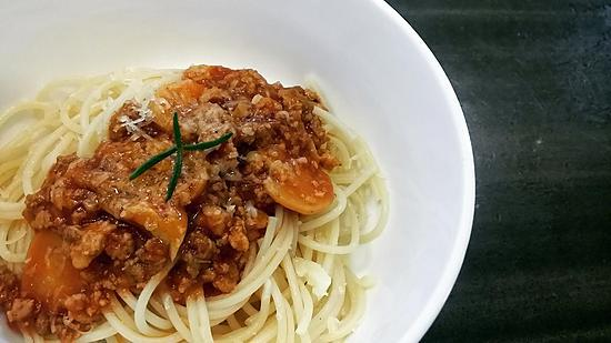 recipe Spaghetti with red sauce
