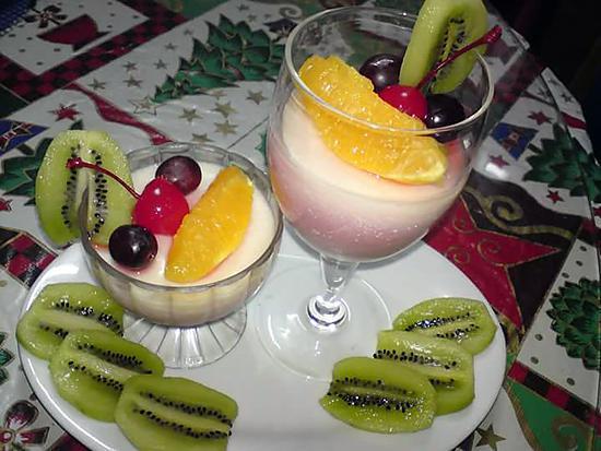 recipe Fruity Panna cotta