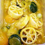 recipe Pasta wheels with Squash soup and Zucchini balls