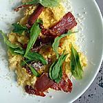 recipe Eggs with prosciutto and arugula