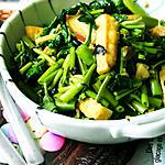 recipe Adobong Kangkong with fried tofu